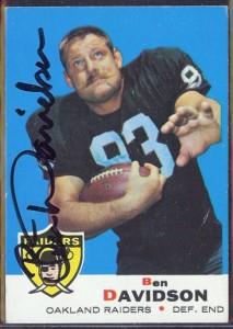 Autographed 1969 Topps Ben Davidson