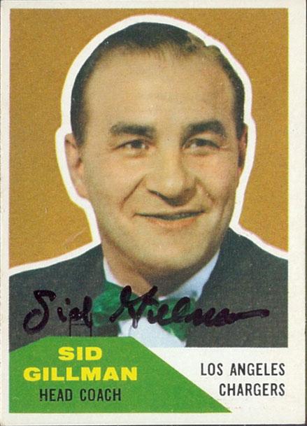 Autographed 1960 Fleer Sid Gillman