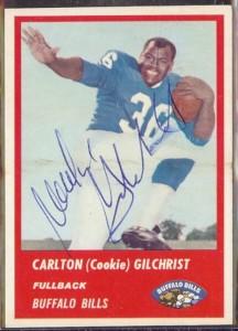 Autographed 1963 Fleer Cookie Gilchrist