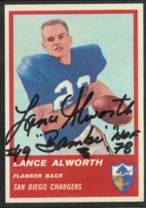 Autographed 1963 Fleer Lance Alworth