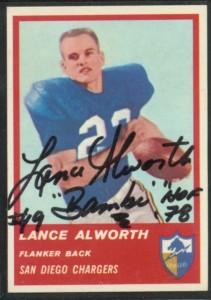 Autographed 1963 Fleer Lance Alworth