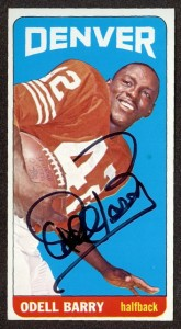 Autographed 1965 Topps Odell Barry