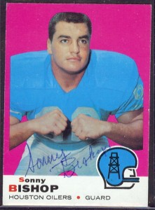 Autographed 1969 Topps Sonny Bishop