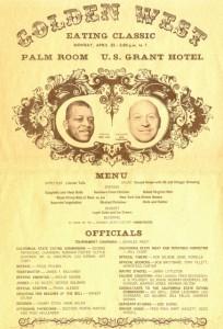Ernie Ladd eating contest placard