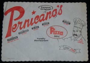 Pernicano's Placemat