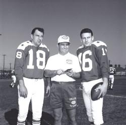1963 AFL All Star Game, Frank Tripucka, Hank Stram, Len Dawson