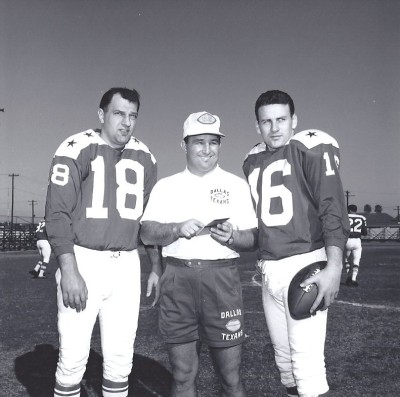 1963 AFL All Star Game, Frank Tripucka, Hank Stram, Len Dawson