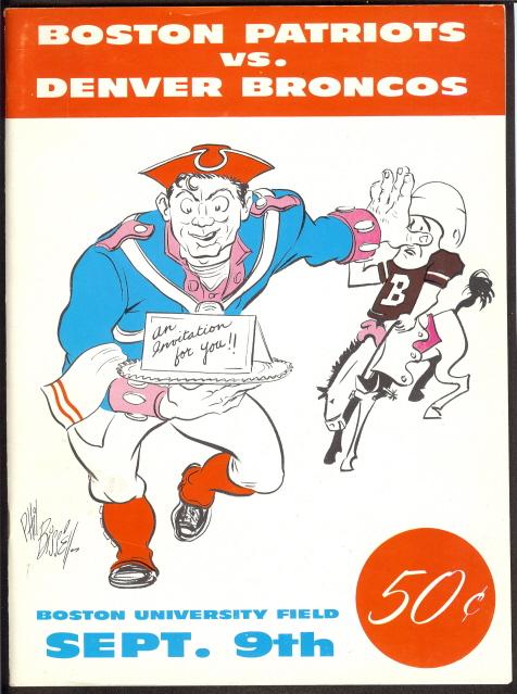 first regular season afl game - broncos vs. patriots