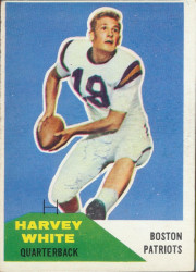 Autographed 1960 Fleer Harvey White