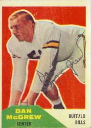 Autographed 1960 Fleer Dan McGrew