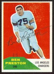 Autographed 1960 Fleer Ben Preston