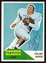 Autographed 1960 Fleer George Blanch