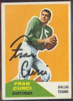 Autographed 1960 Fleer Fran Curci