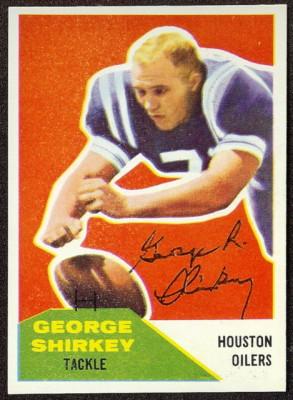 Autographed 1960 Fleer George Shirkey