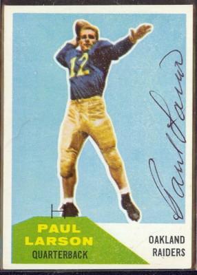 Autographed 1960 Fleer Paul Larson