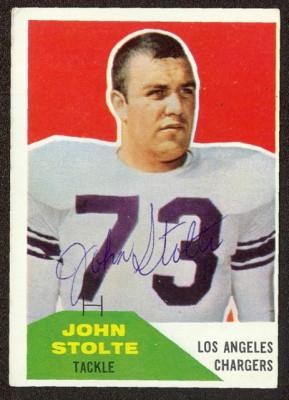 Autographed 1960 Fleer John Stolte
