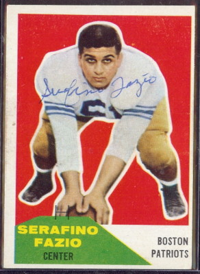 Autographed 1960 Fleer Serafnio Fazio