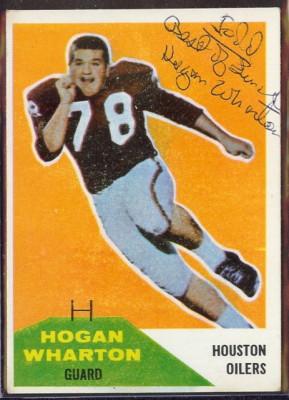 Autographed 1960 Fleer Hogan Wharton