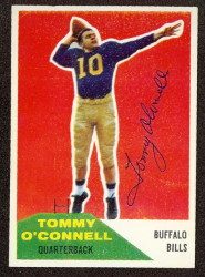 Autographed 1960 Fleer Tommy O'Connell