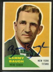 Autographed 1960 Fleer Sammy Baugh