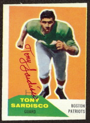 Autographed 1960 Fleer Tony Sardisco