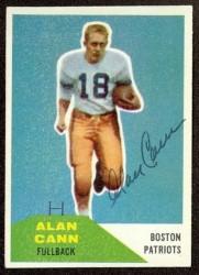 Autographed 1960 Fleer Alan Cann