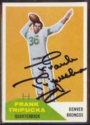 Autographed 1960 Fleer FrankTripucka
