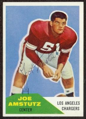 Autographed 1960 Fleer Joe Amstutz