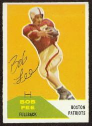 Autographed 1960 Fleer Bob Fee