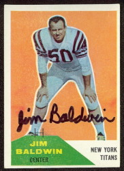 Autographed 1960 Fleer Jim Baldwin