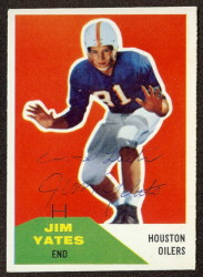Autographed 1960 Fleer Jim Yates