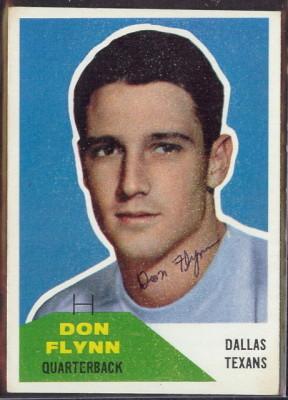 Autographed 1960 Fleer Don Flynn