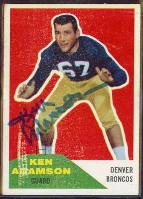Autographed 1960 Fleer Ken Anderson