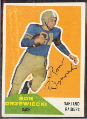 Autographed 1960 Fleer Ron Drzewiecki
