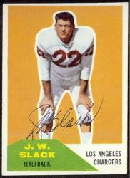 Autographed 1960 Fleer JW Slack