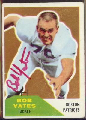 Autographed 1960 Fleer Bob Yates