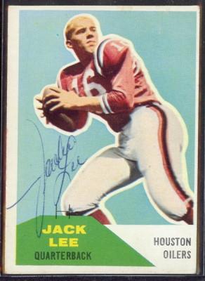 Autographed 1960 Fleer Jack Lee