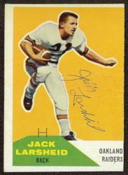 Autographed 1960 Fleer Jack Larsheid