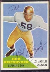Autographed 1960 Fleer Bob Reifsnyder