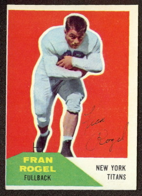 Autographed 1960 Fleer Fran Rogel