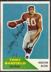 Autographed 1960 Fleer Tony Banfield