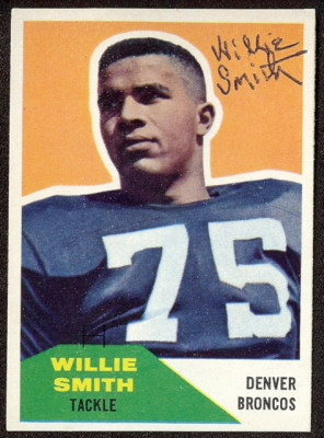 Autographed 1960 Fleer Willie Smith