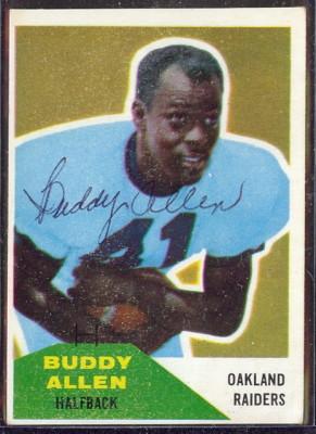 Autographed 1960 Fleer Buddy Allen