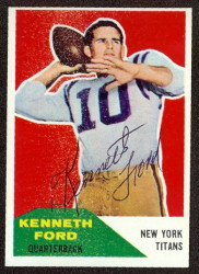 Autographed 1960 Fleer Kenneth Ford