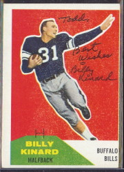 Autographed 1960 Fleer Billy Kinard