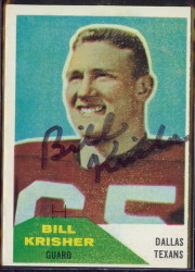 Autographed 1960 Fleer Bill Krisher