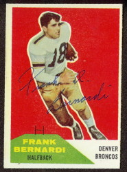 Autographed 1960 Fleer Frank Bernardi