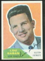 Autographed 1960 Fleer Lou Saban