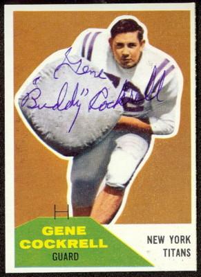 Autographed 1960 Fleer Gene Cockrell