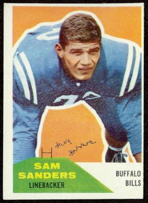 Autographed 1960 Fleer Sam Sanders